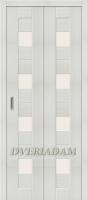 Межкомнатная складная дверь с эко шпоном Порта-23 Bianco Veralinga