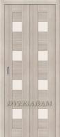 Межкомнатная складная дверь с эко шпоном Порта-23 Cappuccino Veralinga
