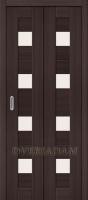 Межкомнатная складная дверь с эко шпоном Порта-23 Wenge Veralinga