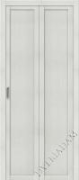 Складная дверь  (Эко шпон) Твигги M1 Bianco Veralinga