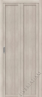 Складная дверь  (Эко шпон) Твигги M1 Cappuccino Veralinga