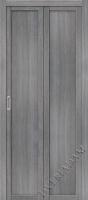 Складная дверь  (Эко шпон) Твигги M1 Grey Veralinga