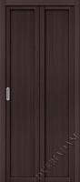 Складная дверь  (Эко шпон) Твигги M1 Wenge Veralinga