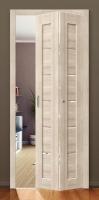 Межкомнатная складная дверь с эко шпоном Порта-21 Bianco Veralinga