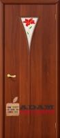 Межкомнатная ламинированная дверь 4с3п итальянский орех (3 П)