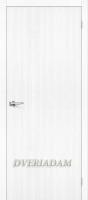 Межкомнатная дверь с эко шпоном Тренд-0 Snow Veralinga