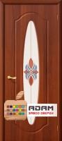 Межкомнатная дверь с ПВХ-пленкой Орбита ПО, итальянский орех