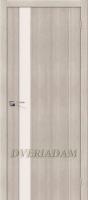 Межкомнатная дверь с эко шпоном Порта-11 ПО Cappuccino Veralinga