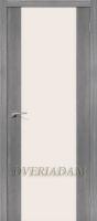 Межкомнатная дверь с эко шпоном Порта-13 ПО Grey Veralinga