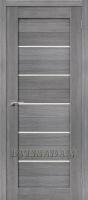 Межкомнатная дверь с эко шпоном Порта-22 ПО  Grey Veralinga