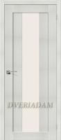 Межкомнатная дверь с эко шпоном Порта-25 alu  Bianco Veralinga