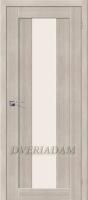 Межкомнатная дверь с эко шпоном  Порта-25 alu Cappuccino Veralinga