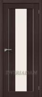Межкомнатная дверь с эко шпоном Порта-25 alu Wenge Veralinga