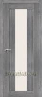 Межкомнатная дверь с эко шпоном Порта-25 alu  Grey Veralinga