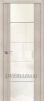 Межкомнатная дверь с Эко шпоном  V4  Cappuccino Veralinga White Pearl