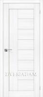 Межкомнатная дверь с эко шпоном Порта-29 ПО Snow Veralinga