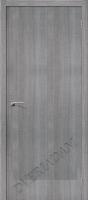 Межкомнатная дверь с эко шпоном Порта-50 Grey Crosscut