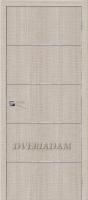 Межкомнатная дверь с эко шпоном Порта-50А-6 Cappuccino Crosscut