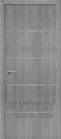 Межкомнатная дверь с эко шпоном Порта-50А-6 Grey Crosscut
