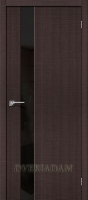 "Межкомнатная дверь с эко шпоном Порта-51 BS Wenge Crosscut  ""Black Star"""
