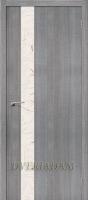 Межкомнатная дверь с эко шпоном Порта-51 Grey Crosscut «Silver Art»