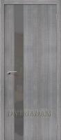 """Межкомнатная дверь с эко шпоном Порта-51 S Grey Crosscut """"Smoke"""""""
