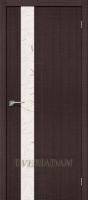 Межкомнатная дверь с эко шпоном Порта-51 Wenge Crosscut «Silver Art»