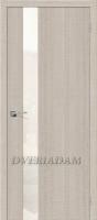 "Межкомнатная дверь с эко шпоном Порта-51 WP Cappuccino Crosscut ""White Pearl"""