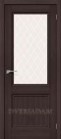 Межкомнатная дверь с эко шпоном Порта-63 ПО Wenge Veralinga