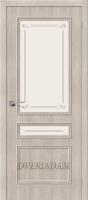 Межкомнатная дверь с эко шпоном Симпл-15.2 Cappuccino Veralinga