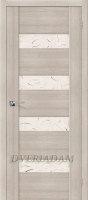 Межкомнатная дверь с Эко шпоном VM4 Cappuccino Veralinga Silver Art