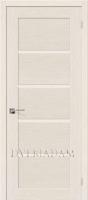 Межкомнатная шпонированная дверь Евро-10 ПО Беленый дуб