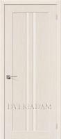 Межкомнатная шпонированная дверь Евро-14 ПО Беленый дуб