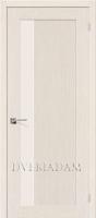Межкомнатная шпонированная дверь Евро-2 ПО Беленый дуб