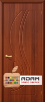 Межкомнатная дверь с ПВХ-пленкой Лотос ПГ, итальянский орех