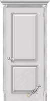 Межкомнатная окрашенная дверь Блюз пг белое серебро