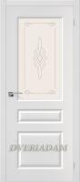 Межкомнатная дверь с ПВХ-пленкой Статус-15 ПО Белый