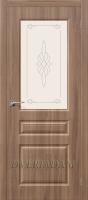 Межкомнатная дверь с ПВХ-пленкой Статус-15 ПО Шимо Темный