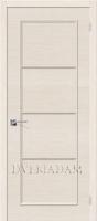 Межкомнатная шпонированная дверь Евро-40 ПГ Беленый дуб