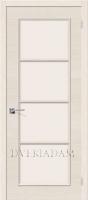 Межкомнатная шпонированная дверь Евро-41 ПО Беленый дуб