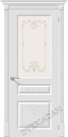 Межкомнатная окрашенная дверь Скинни-15.1 ART Whitey