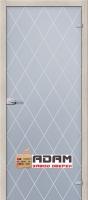 Кристалл Белое Сатинато - стеклянная межкомнатная дверь