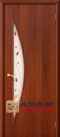 Межкомнатная ламинированная дверь 4с5п итальянский орех (5 П)